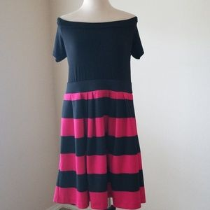 New York & Company Black and Pink Dress